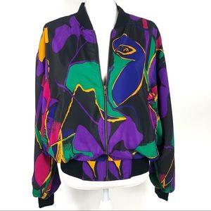 Vintage Abstract Art Bomber Jacket